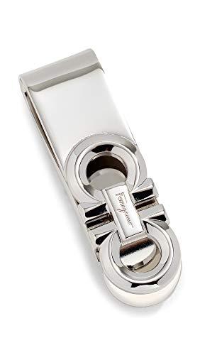 Salvatore Ferragamo Men's Double Gancio Money Clip, Silver, One Size
