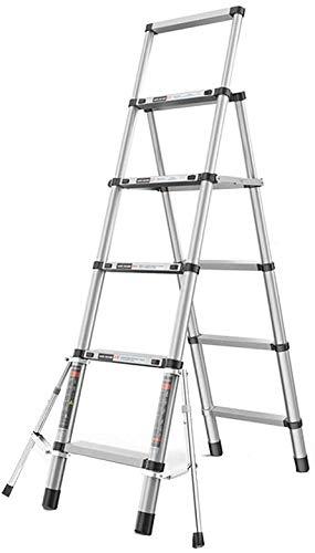 はしご アルミ台 伸縮はしご アルミ合金伸縮梯子、手すり、多目的(負荷容量150キロ)で折りたたみ拡張ラダーA-フレーム 便座とフレーム (Size, Style4),Style3