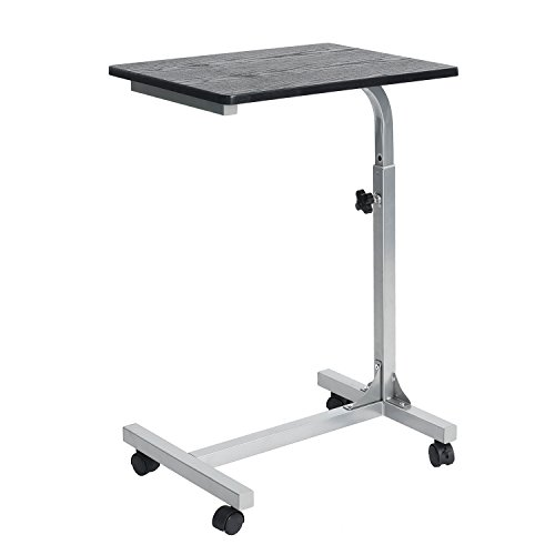 Coavas Overbed Table Medical Adjustable Portable Notebook Desk Sofa Side Table for Studying Reading Breakfast Table (Desk Bedside)