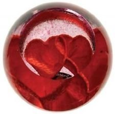 Caithness Glass Love Hearts Paperweight 60mm (ht) x 65mm (dia)