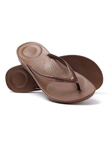 Das Fitflop Ergonômico Mulheres Bronze Flops Iqushion Aleta p4wqff