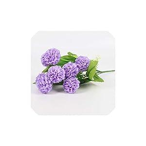 Smileshop01 1pcs 9 Heads Lavender Ball Artificial Flower Silk Flower Bouquet 7 Colors Home Hotel Decorations for Wedding,Light Purple 48