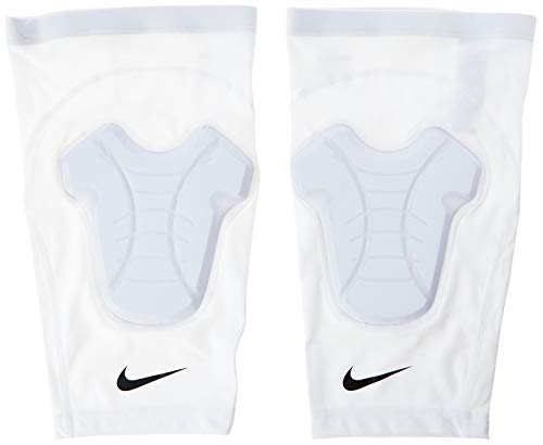 Joelheira Hyperstrong Padded Knee Sleeves Adulto (Pares) Nike P/M White/Black