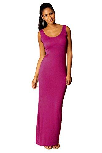 FOUNDO Women's Sleeveless Scoop Neck Summer Maxi Dress (L...