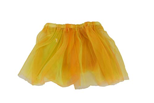 Multi-Colored Tutu's! Fairy Tutu's, Princess & Unicorn Tutu's! Perfect for Any Costume! (Orange-Yellow)