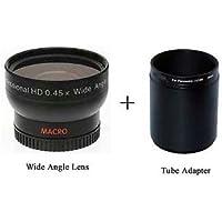 Wide Lens + Tube Adapter DMWLA5 bundle for Panasonic DMC-FZ47, Panasonic DMC-FZ47K, Panasonic DMC-FZ48