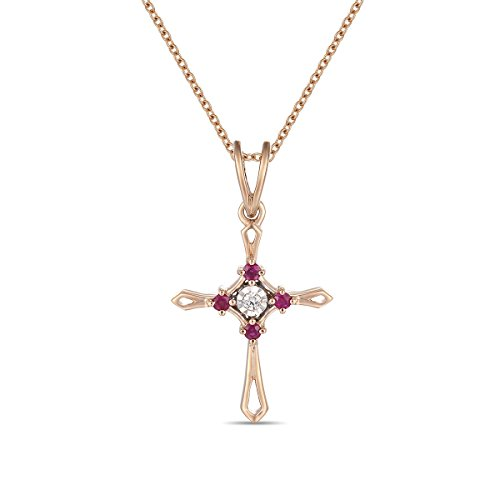 Ferhe New York Mother's Day Gift, 14K Gold Almighty Cross Pendant with Diamond & Ruby,Diamond Almighty Cross Pendant, Ruby Almighty Cross Pendant,Pendant Only- NO Chain Ruby Cross