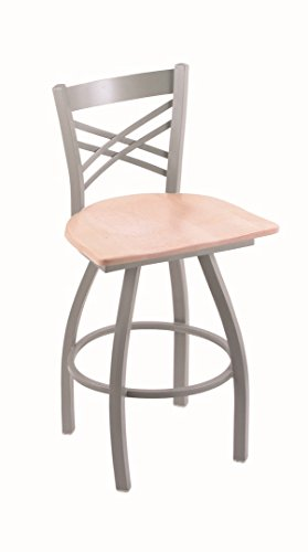 Holland Bar Stool Co. XL 820 Catalina Anodized Nickel Swivel Counter Stool, Natural Maple from Holland Bar Stool Co.