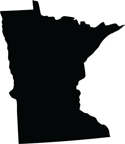 (Black Minnesota MN map Car Vinyl Decal Sticker Laptop, Ipad, Window, Wall, Truck, Motorcycle 3 inchs wide)