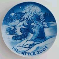 2001 Bing and Grondahl Christmas Plate