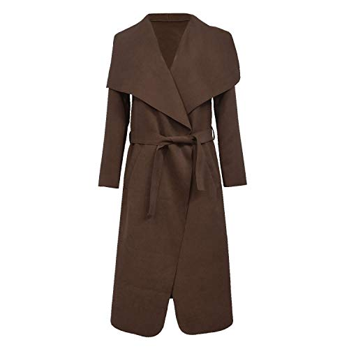 Brown Long UK Coat Missmister 8 Waterfall Cardigan Trench Jacket Wrap Cape Womens Duster Belted Italian Coffee Ladies 24 nSSxqpwIT
