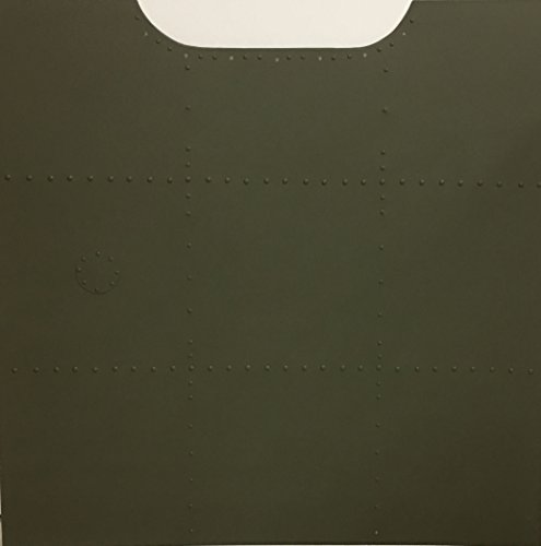 Undecorated Aluminum Nose Art Panel Painted Correct Olive Drab