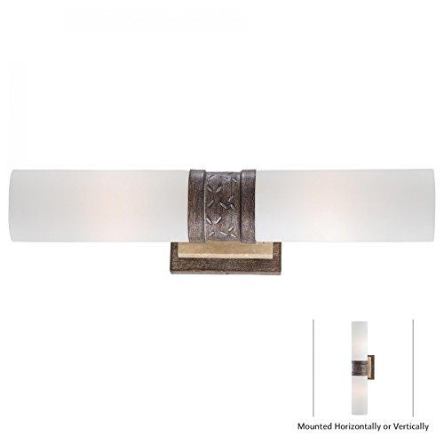 (Minka Lavery Wall Sconce Lighting 4462-273, Compositions Glass Wall Lamp Fixture, 2 Light, 120 Watts Halogen, Iron)