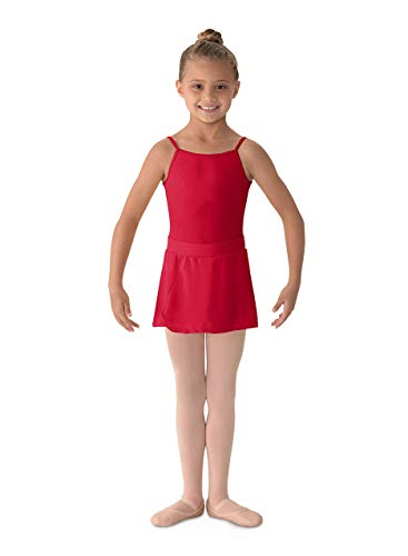 (Mirella Girl's Georgette Mock Wrap Dance Skirt Garnet Large)