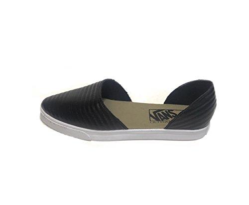 b97937433f Vans Slip On Skimmer Moto Leather Black Women s Shoes Size 5.5