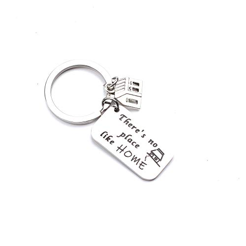 Like Wizard Place Home - Anlive Wizard of Oz There's No Place Like Home Inspired Keychain (Silver)