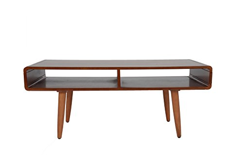Boraam 32211 Zebra Series Halmstad Coffee Table, Rich Walnut