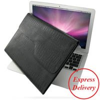 PDAIR Black Crocodile Pattern P02 Leather Case for Apple ...