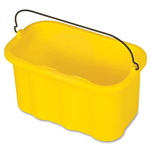 Rubbermaid Commercial Products FG9T8200YEL Sanitizing Caddy, Housekeeping Cart Accessories, Yellow from Rubbermaid Commercial Products