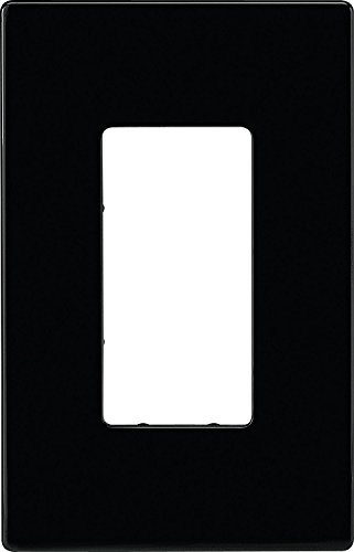 Eaton PJS26BK Decorator Screwless Wallplate, 1-Gang, Black Cooper Wiring Devices Switchplate