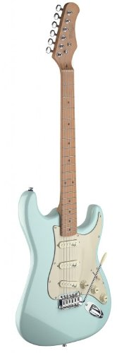 Stagg SES50M-SNB Vintage Style Electric Guitar with Solid Alder Body – Sonic Blue