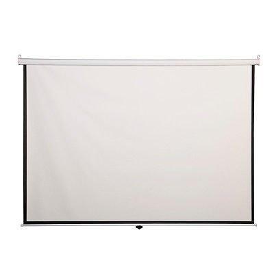 """Projection Screens 120"""" 4:3 Manual Pull Down Auto-Lock Projector Projection Screen White 96""""x72"""""""