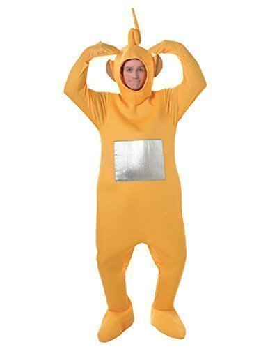 Official Licensed Mens Ladies Tinky Winky Po Dipy Laa-Laa Red Green Purple Yellow Teletubby Teletubbies Hen Stag Do Cartoon Fancy Dress Costume Outfit (Yellow) ()