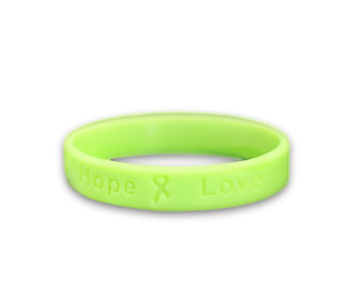 Fundraising For A Cause Lymphoma Awareness Lime Green Silicone Bracelet - Child Size - (1 Bracelet - Retail)