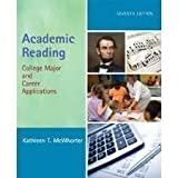 Academic Reading, McWhorter, Kathleen T., 0321051122