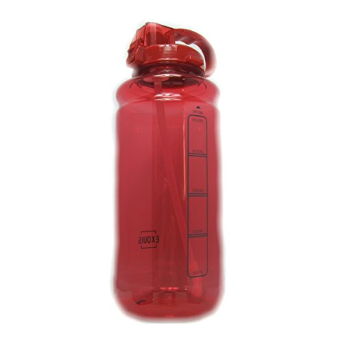 Infuze H20 101oz 3000ml 3L Large Outdoor Water Bottle w/Handle & Straw - BPA Free Tritan Plastic - Leak Proof Push Button Lid - Eco-Friendly for Gym, Yoga, Running, and Camping