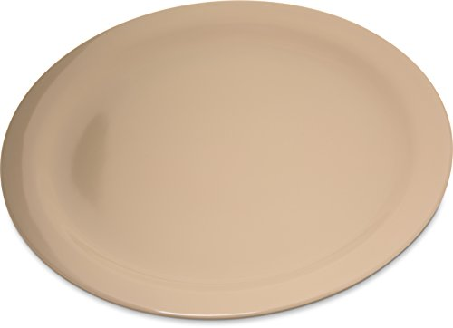 "Carlisle 4350025 Dallas Ware Melamine Dinner Plate, 10.20"" Dia. x 0.84"" H, Tan (Case of 48)"