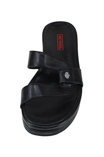 Harley-Davidson Womens Enchanted Black Slip on Fashion Sandals 8uDShdI8K