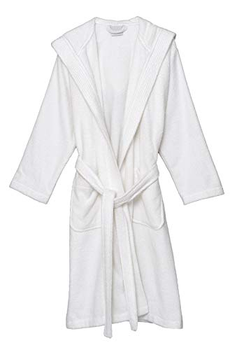 Hooded Terry Cloth Robe - TowelSelections Women's Hooded Robe, Cotton Terry Cloth Bathrobe Small White