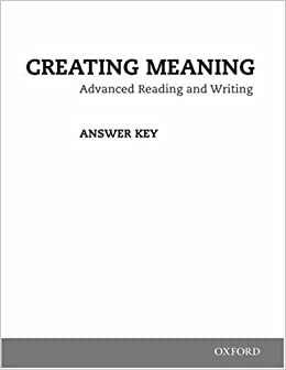 buy creating meaning answer key booklet book online at low prices