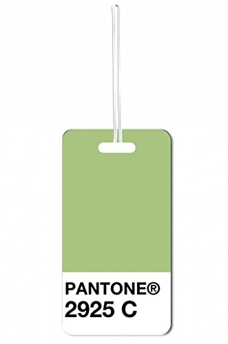 Green Pantone Max Wilder TM Luggage Tag with Customizable Back (Pantone Luggage Tag)