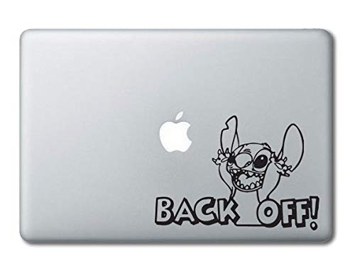"""Stitch Backoff Disney Printed Clear Vinyl Decal Sticker Compatible with Apple MacBook Pro Air 11"""" 12"""" 13"""" 15"""" All Years Laptop Trackpad Keyboard (13"""" Macbook (All Models))"""