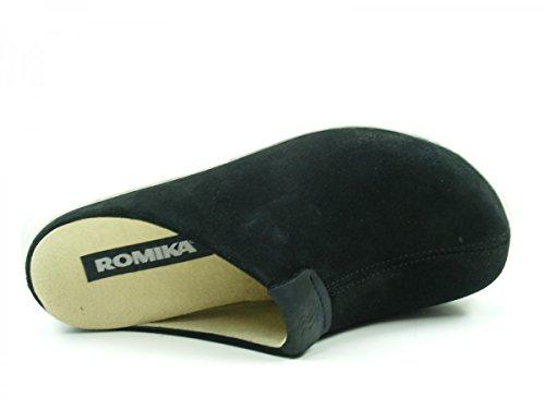 74604 28 ROMIKA Femme Pantoufles 04 Schwarz Gomera qfBBd5