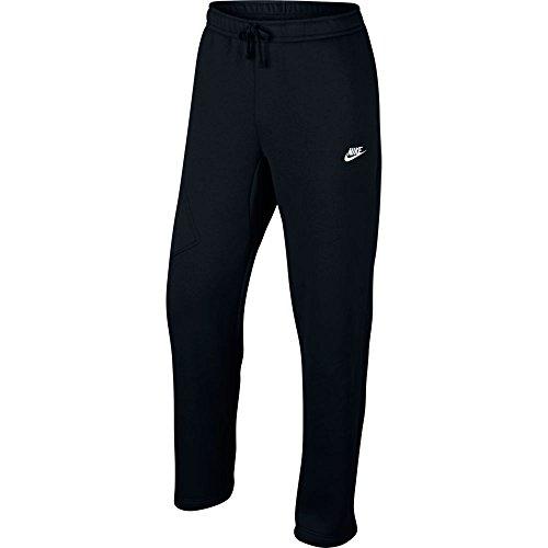 Nike Mens Open Hem Fleece Pocket Sweatpants Black/White 823513-010 Size Small