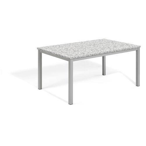 (Oxford Garden TV63TAH Powder Coated Aluminum Frame Lite-Core Granite Ash Top Travira 63
