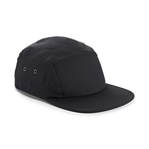 Beechfield Canvas 5 Panel Classic Baseball Cap (One Size) (Black)