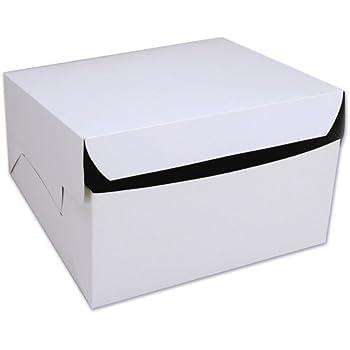 Cakesupplyshop 8 X 8 X 4 White Cake Bakery Box 10