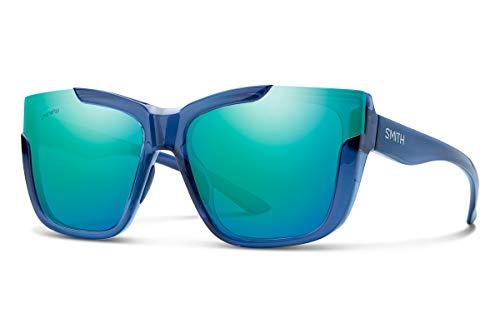 Smith Dreamline Sunglasses Sapphire/Chromapop Opal Mirror & Carekit Bundle