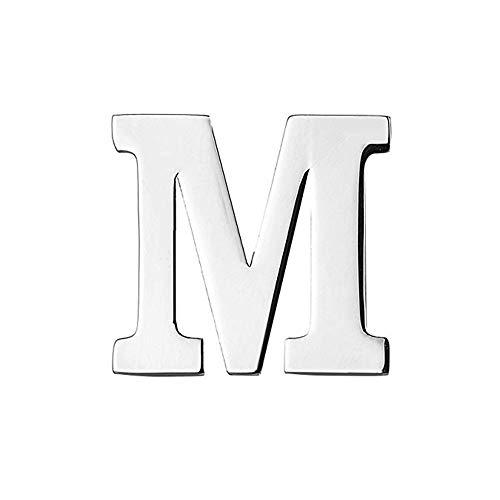 MINGHUA Monogram Alphabet Letters Lapel Pin Badge (M)