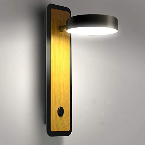 Lightess Apliques de Pared LED Interior 12W Regulable 3 Temperatura de Color Lámpara de Pared Dormitorio Luz Moderna…