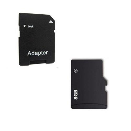 Digicharge 8GB Micro SD Card SDHC für Tomtom Go 6100 Go 610 mit SD Adapter Card