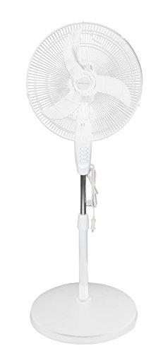 """Hamilton Beach H01SF009 Stand Fan, 16"""", White"""