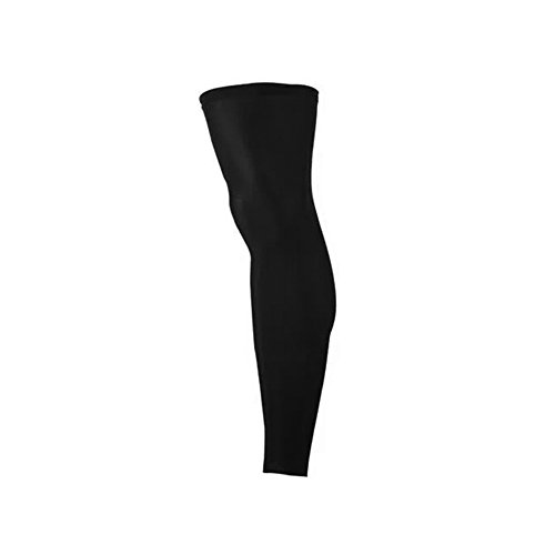 Sports Compression Leg Sleeves for Women and Men - Boosts Circulation - Aids Faster Recovery - Protect From UV & Abrasions for: Sports & Health (1 leg sleeve) colors: black (Black, Large) by D&D Threads Plus