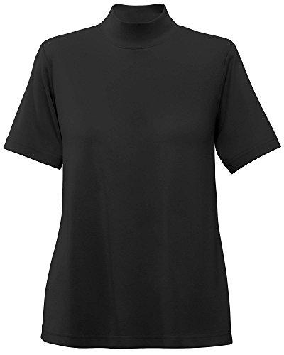 UltraSofts Cotton-Polyester Mock Top, Black, X-Large