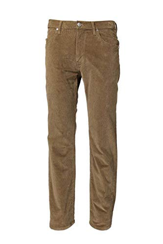 - Wrangler Men's Arizona Stretch Corduroy Jeans Teak