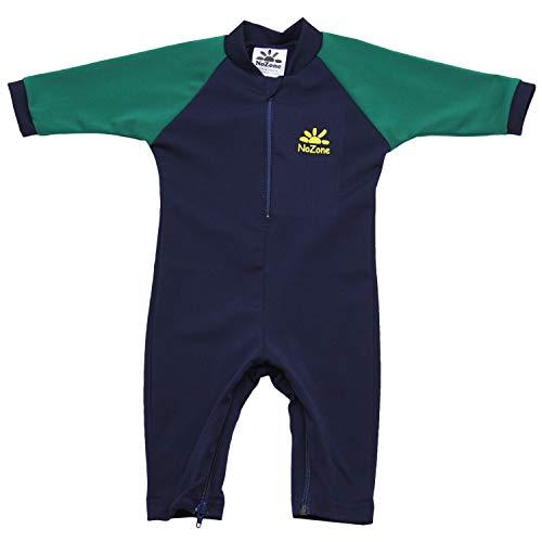 Nozone Fiji Sun Protective Baby Boy Swimsuit in Navy/Hunter, 12-18 Months
